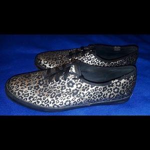 Gold & black leopard print KEDS